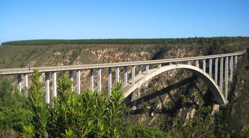 Мост Блукранс для банджи-джампинга, Южная Африка