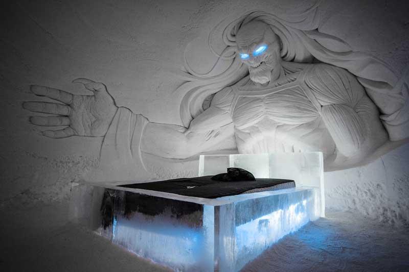 Ледяной отель в стиле Игр Престолов