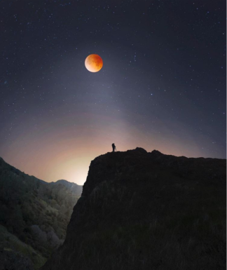 Красивые фотографии затмения кровавой голубой Луны