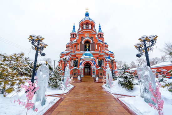 удивительной красоты православный храм