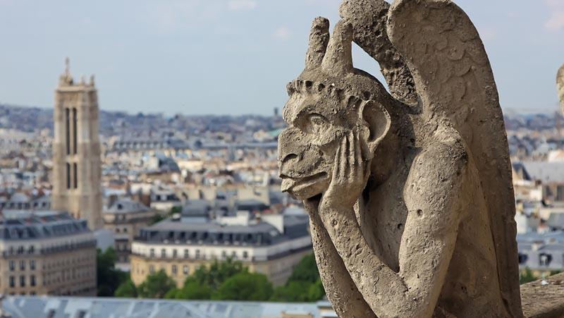 3D-сканирование для воспроизведения Le Stryge, самой известной химеры собора Нотр-Дам, которая была сильно повреждена в огне.