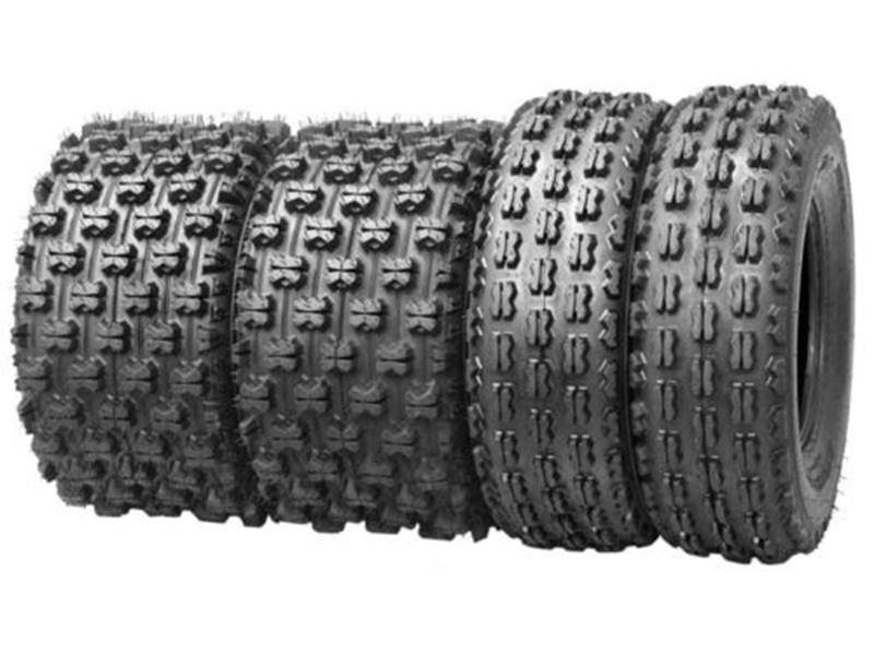 Большинство спортивных шин для квадроциклов ближе всего к мягкому типу местности с открытыми, равномерно расположенными ламелями.